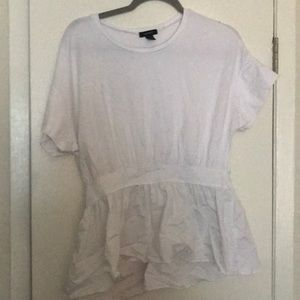 White Halogen Peplum Top